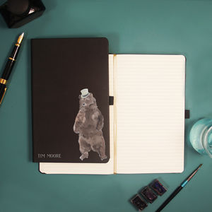 Personalised Bear Accessories Notebook