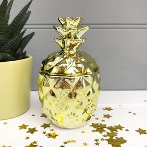 Golden Pineapple Candle Pot