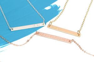 Minimalist Personalised Bar Necklace - necklaces & pendants