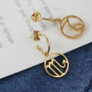 Zodiac Charm Hoop Earrings