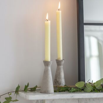 Set Of Two Concrete Candle Holders