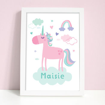 Personalised Unicorn Name Print