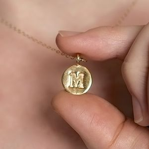 Personalised Gold Embossed Letter Necklace