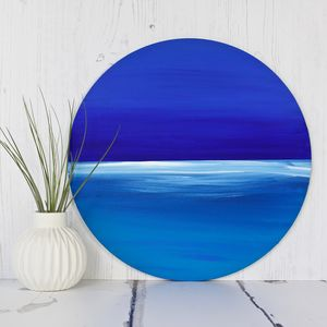 Bespoke Circular Modern Painting Seascape - canvas prints & art