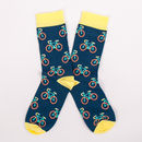 Mens Bicycle Print Sock