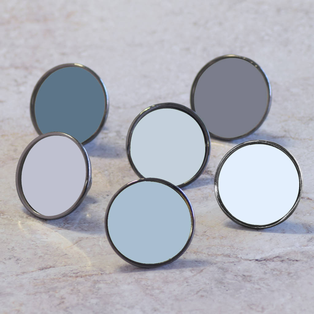Grey Colourful Cupboard Door Knob Drawer Handles
