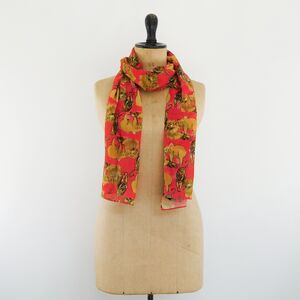 Lions And Tigers And Bears Oh My! Print Fine Wool Scarf