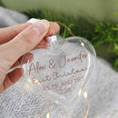 First Married Christmas Glass Bauble Keepsake
