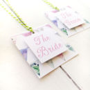 Patchwork Bunting Wedding Place Setting Tag