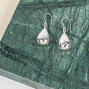 Orba Sterling Silver Hammered Teardrop Hook Earrings