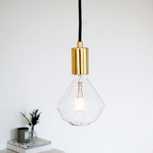 Geometric Gold Diamond Ceiling Pendant Light - on trend: brass & gold