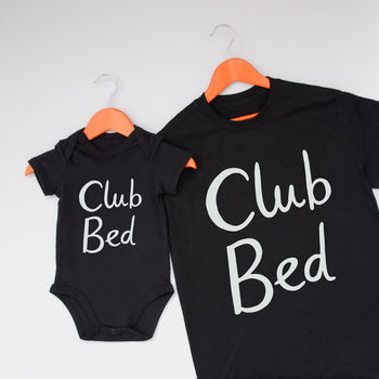 Club Bed Daddy And Me Clothing Set