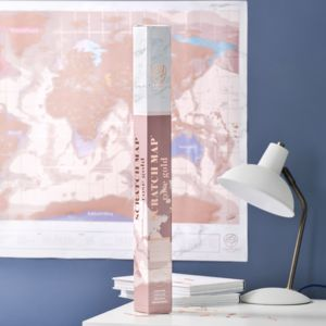 Rose Gold Scratch Off Map - gifts for teenagers
