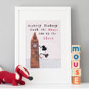 'Hickory Dickory Dock' Big Ben Art Print