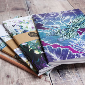 Botanical Bundle A5 Recycled Plain Notebooks