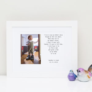 Fill Daddy's Shoes Photo Print