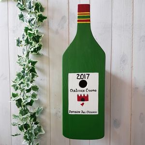 Personalised Wine Bottle Bird Box - garden sale