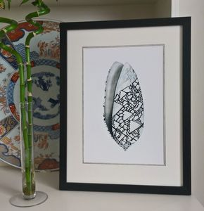 Framed Limited Edition Ocean Conch Shell Giclee Print - posters & prints