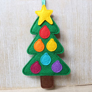 Handmade Felt Tree Christmas Decoration