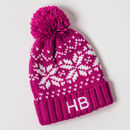 Personalised Kids Pom Pom Hat