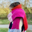 Knitting Kit Merino Wool Rainbow Supersize Who Scarf