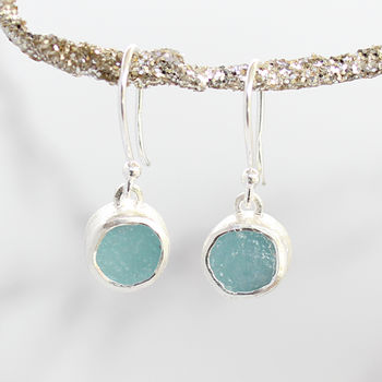 Aquamarine Gemstone Handmade Ladies Earrings