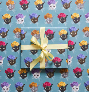 Frida Cat Wrapping Paper