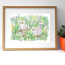 Children's Animal Lemur Giclee Print