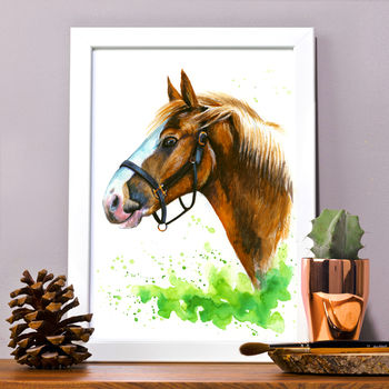 Horse Portrait Personalised