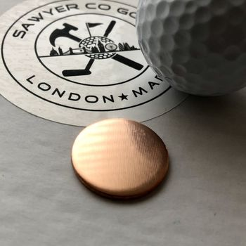 Personalised Copper Golf Lovers Gift