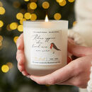 Robins Appear Loving Memory Candle