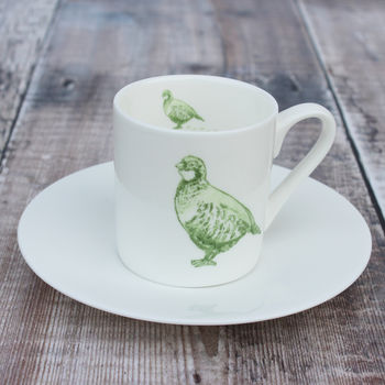 'Partridge' Espresso Cup And Saucer