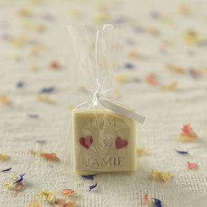 Personalised Chocolate Favours, Set Of 50 - heart favours