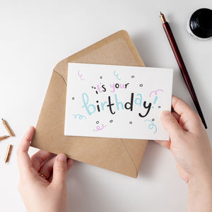 'It's Your Birthday!' Letterpress Card