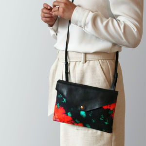 Black And Red Clutch And Crossbody Bag - cross-body bags