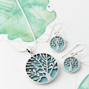 Turquoise Tree Of Life Jewellery Set