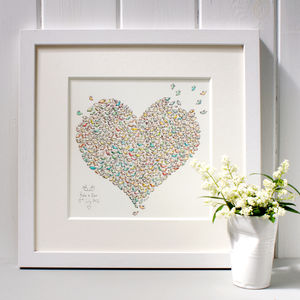 Personalised Bird Heart Print - posters & prints