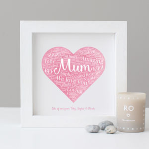 Personalised Watercolour Mum Gift - family & home