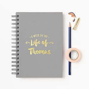 Personalised 'Start Any Date' Weekly Diary - stationery-lover
