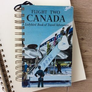 'Canada' Upcycled Notebook - writing