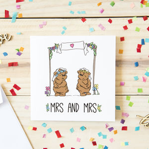 Mrs And Mrs Wedding Card For Same Sex Couples