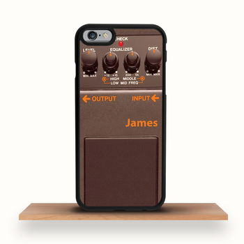 Guitar Pedal Brown iPhone Case For All Models