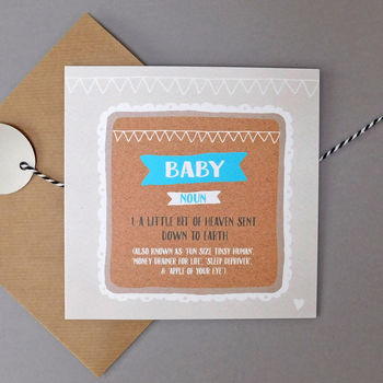 Funny New Baby Boy Card