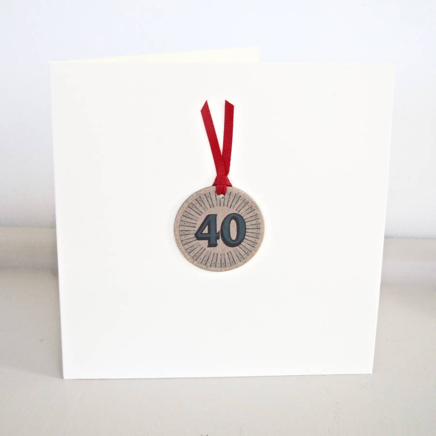 Handmade 40th birthday card by chapel cards notonthehighstreet handmade 40th birthday card bookmarktalkfo