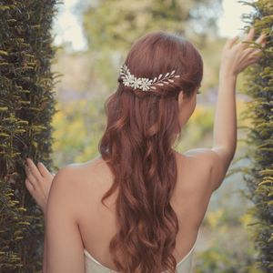 'Daisy' Mother Of Pearl Flower Wedding Hair Vine