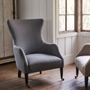Bromley Wing Back Chair, Grey Linen