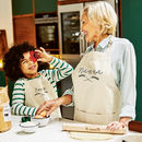 Personalised Grandparent And Me Wheatsheaf Apron Set