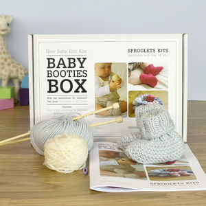 Baby Booties Beginner's Knitting Kit - knitting kits