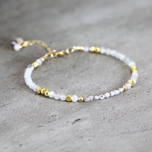 Skinny White Diamond And Moonstone Bracelet - bracelets & bangles