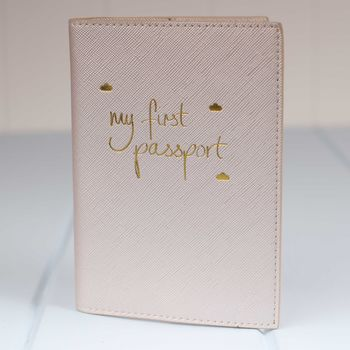 Personalised 'My First Passport' Travel Holder